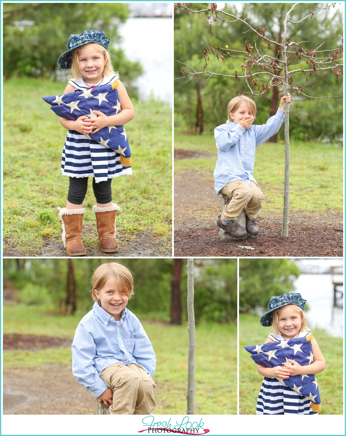 military kids photo shoot