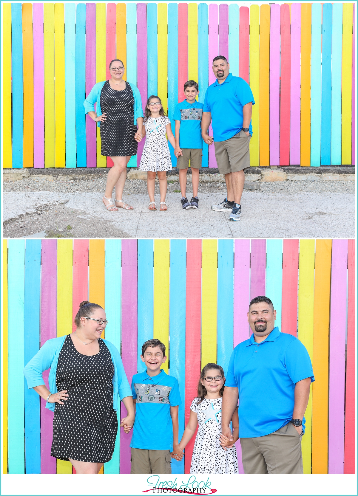 bright and colorful family photos