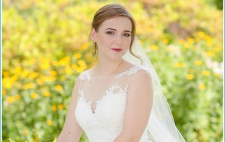 flower garden bridal session