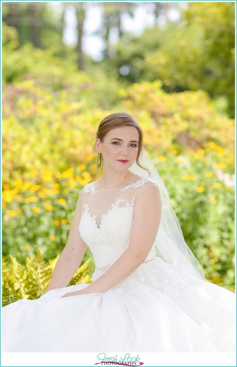 flower garden bridal session