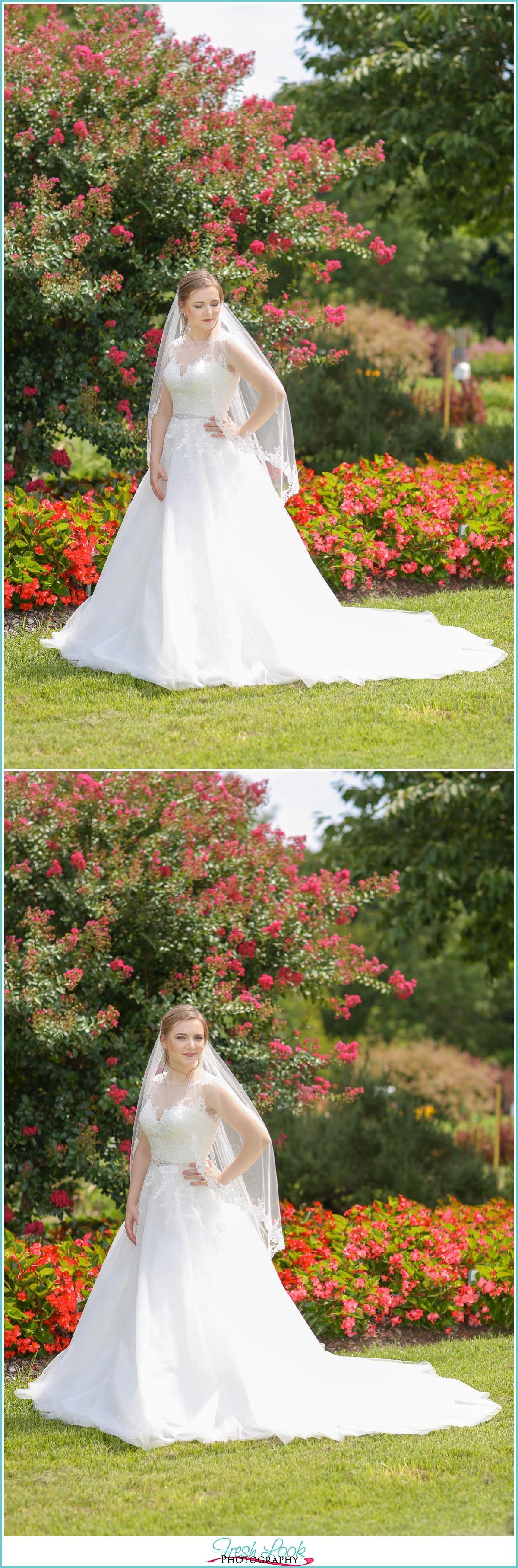 full sun bridal portraits