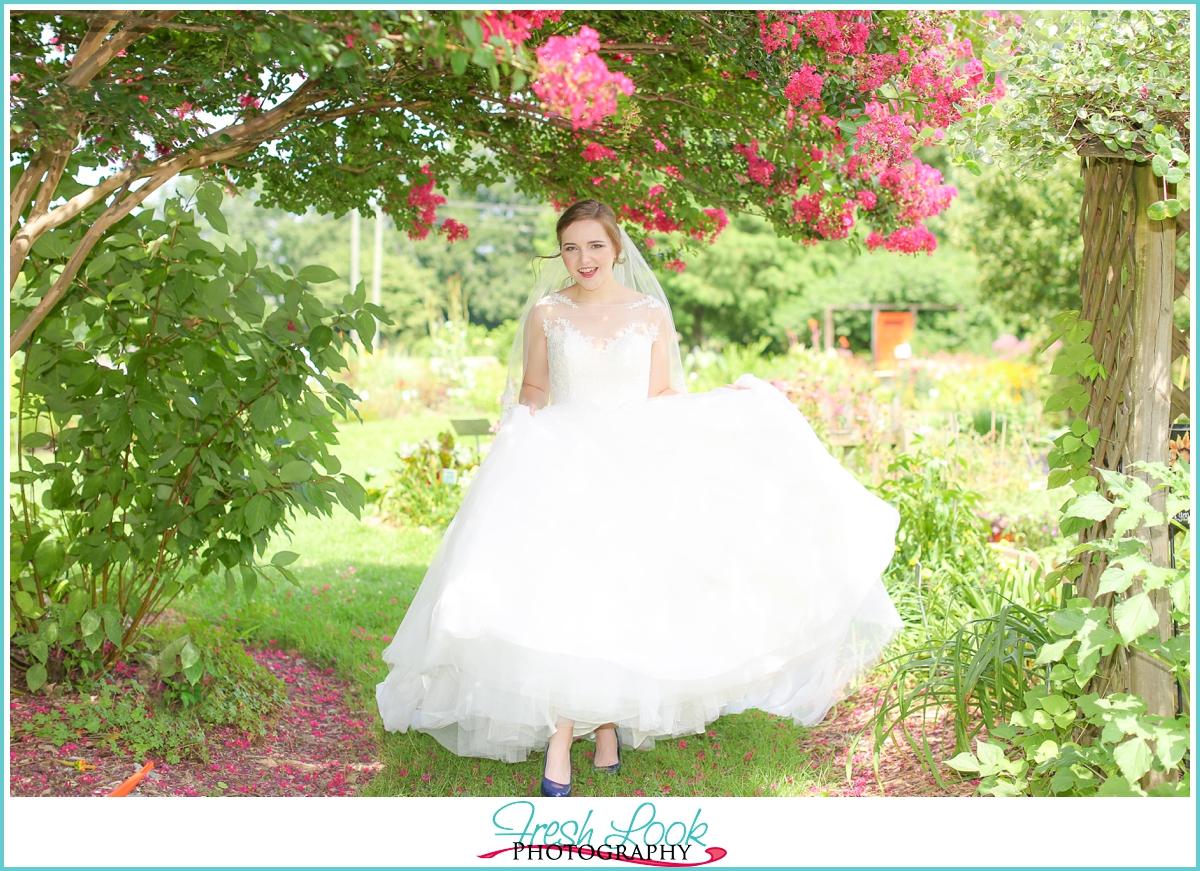 joyful happy bride