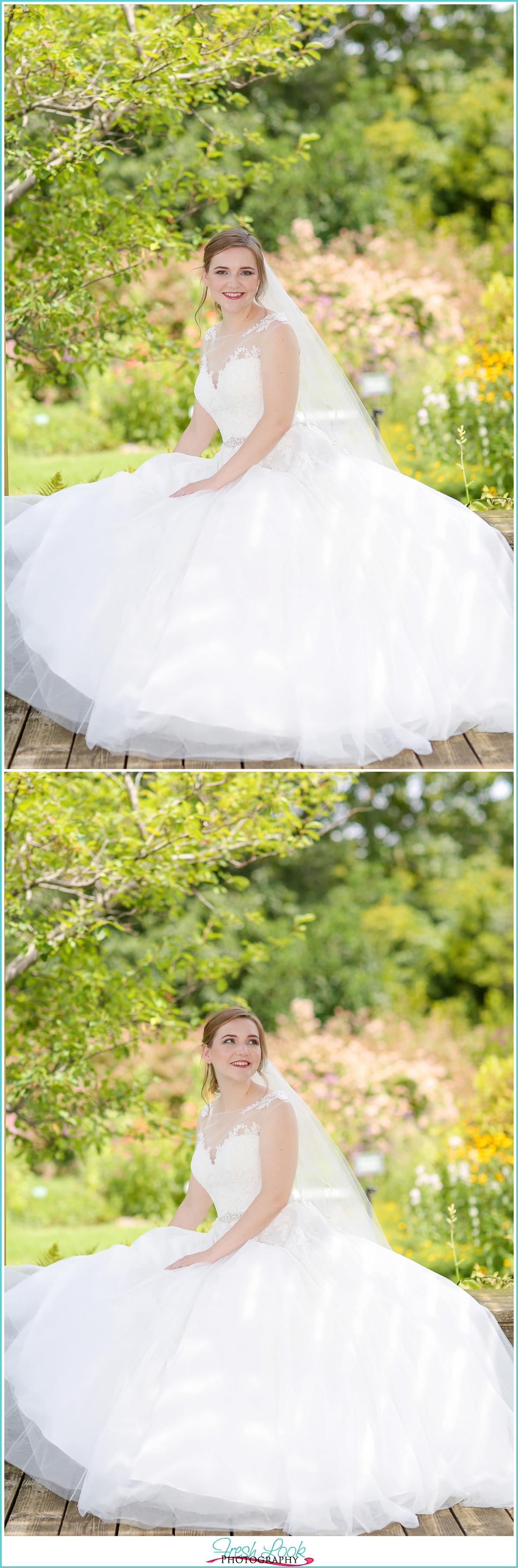 joyful fun bride