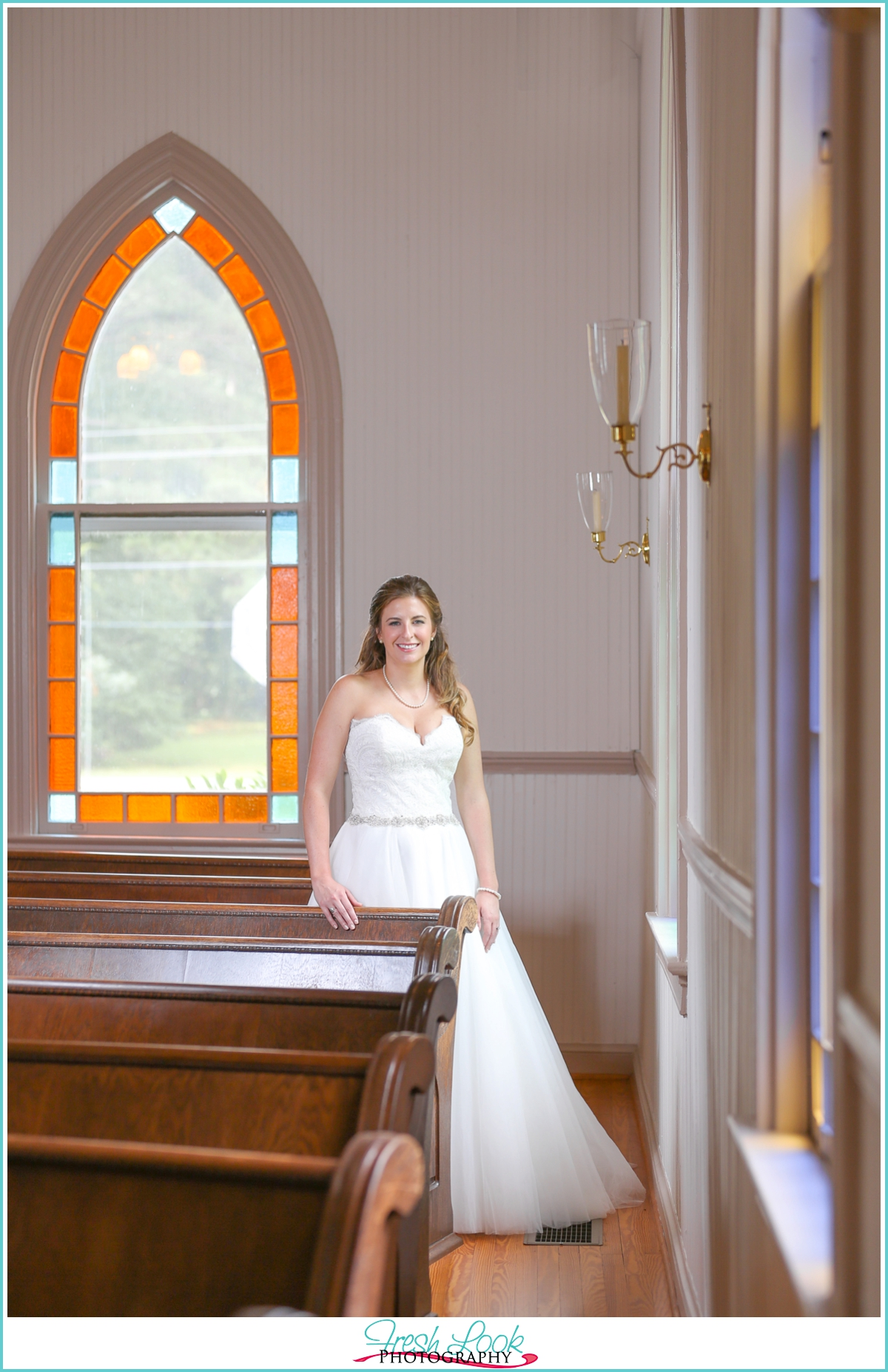 church wedding bridal pictures