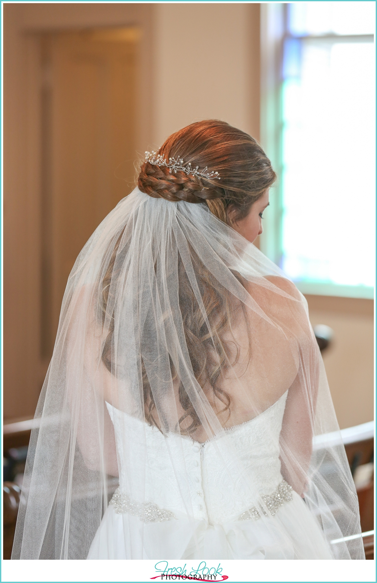 country bridal wedding hairstyle