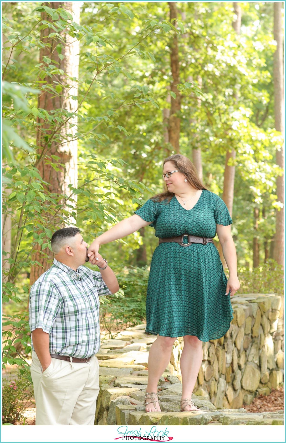 elegant romantic engagement session