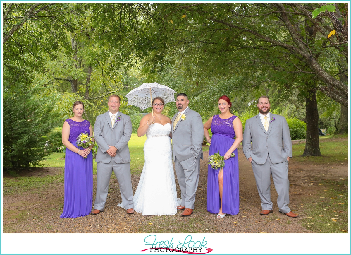 classy bridal party photos