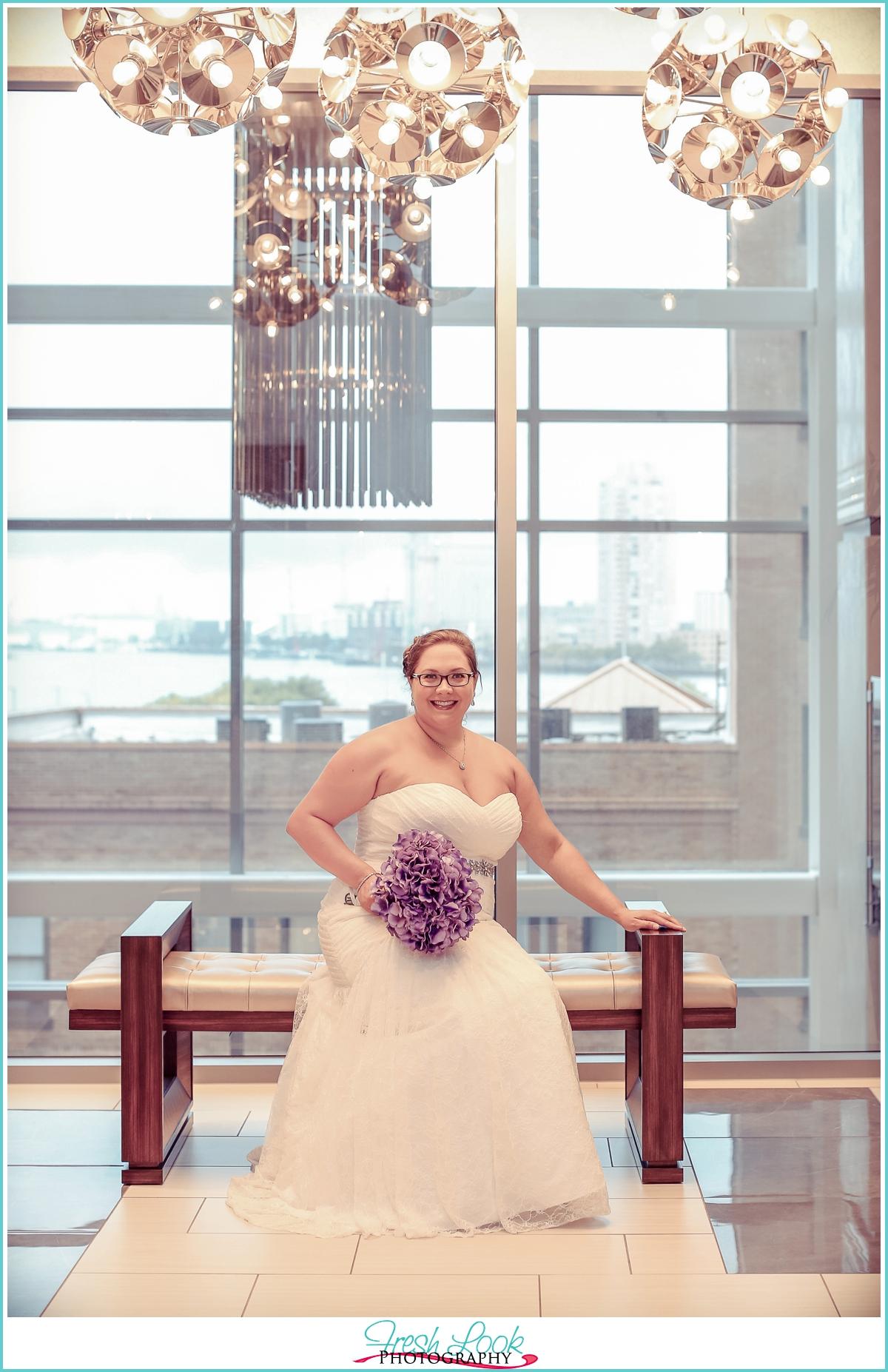 Norfolk bride before the wedding