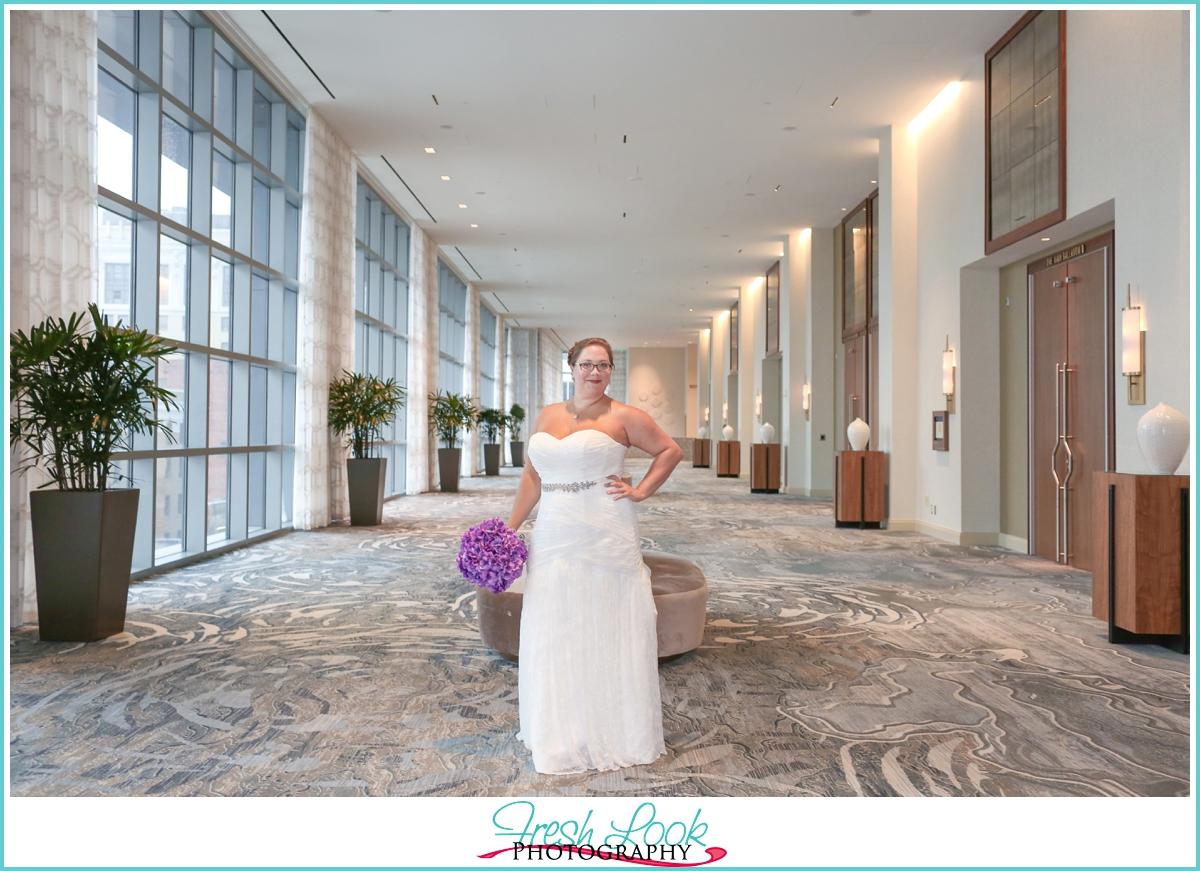 sassy full figured bride