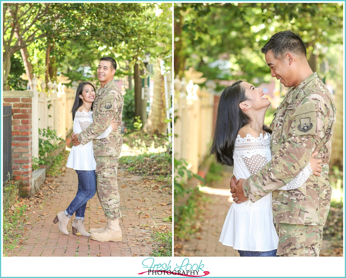 military couples photo shoot