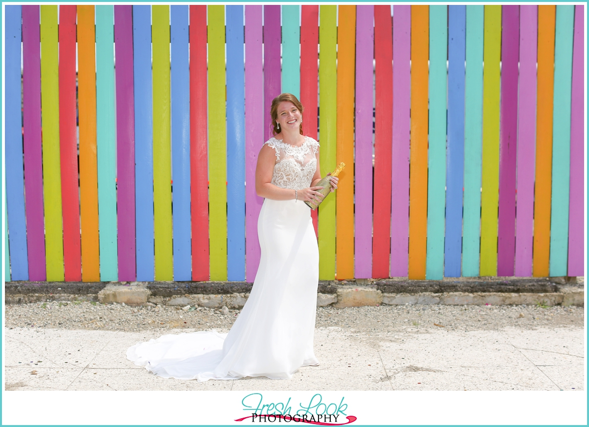 pop the champagne bridal session
