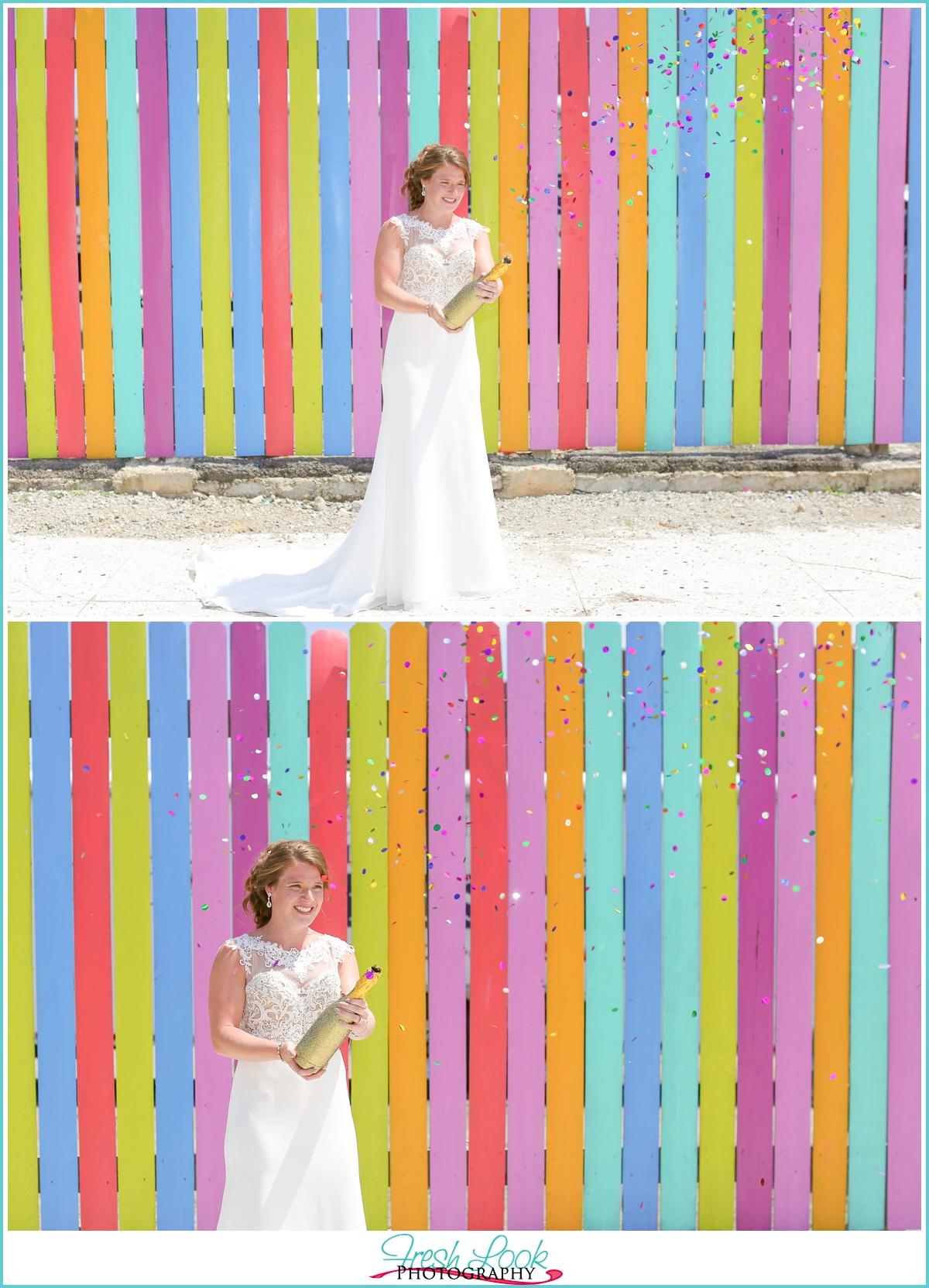 Norfolk street art bride
