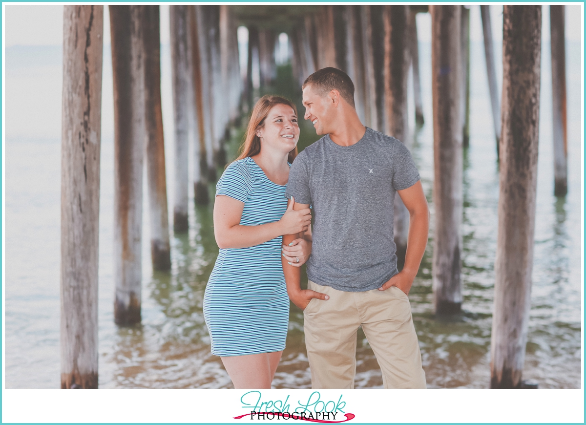 Lynnhaven Fishing Pier engagement shoot