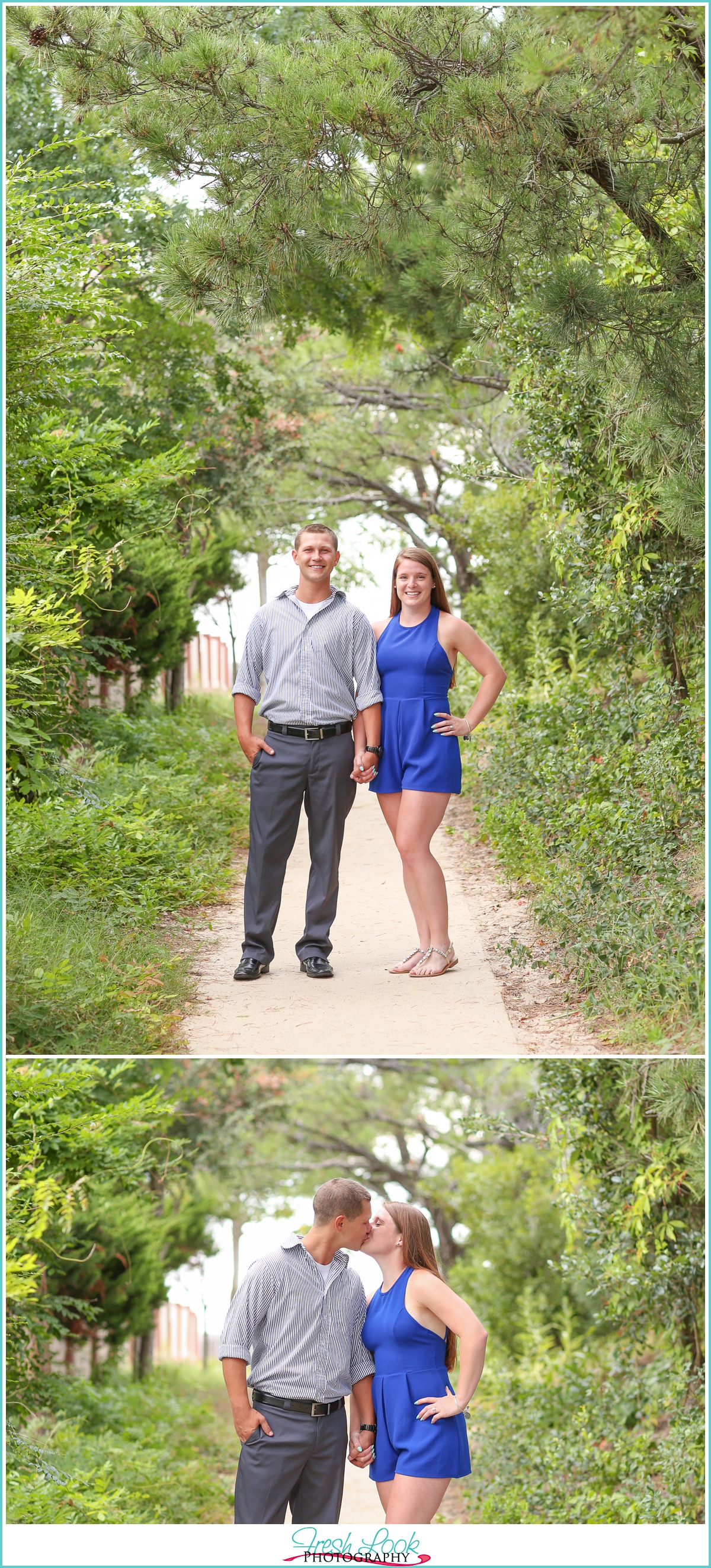 woodsy elegant engagement session