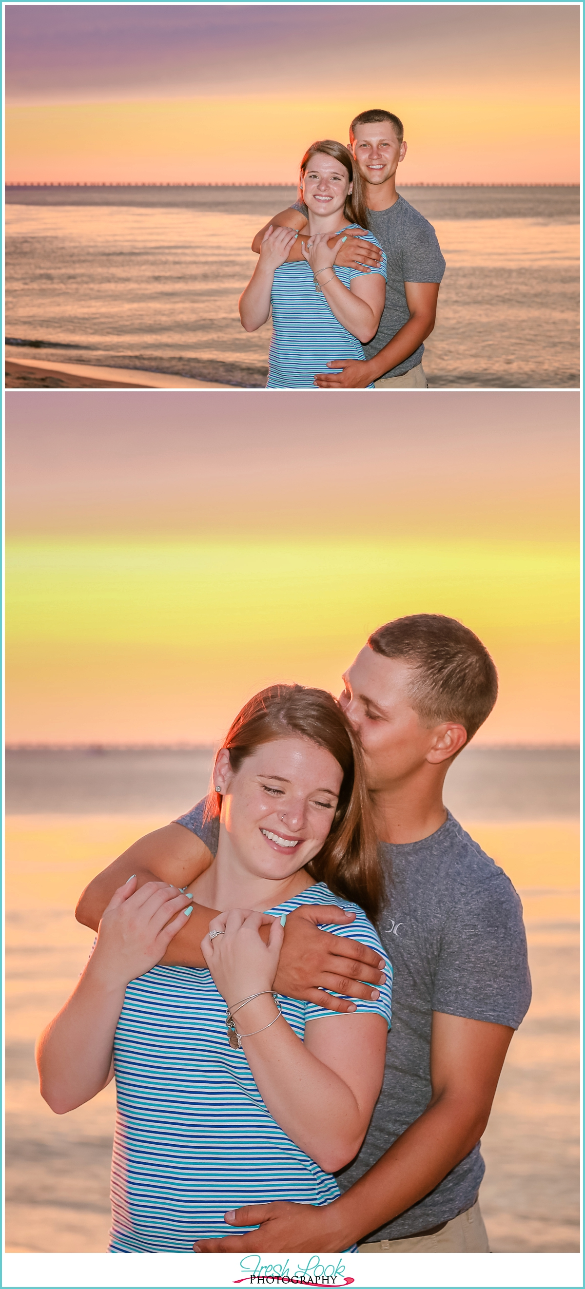 golden sunset engagement shoot