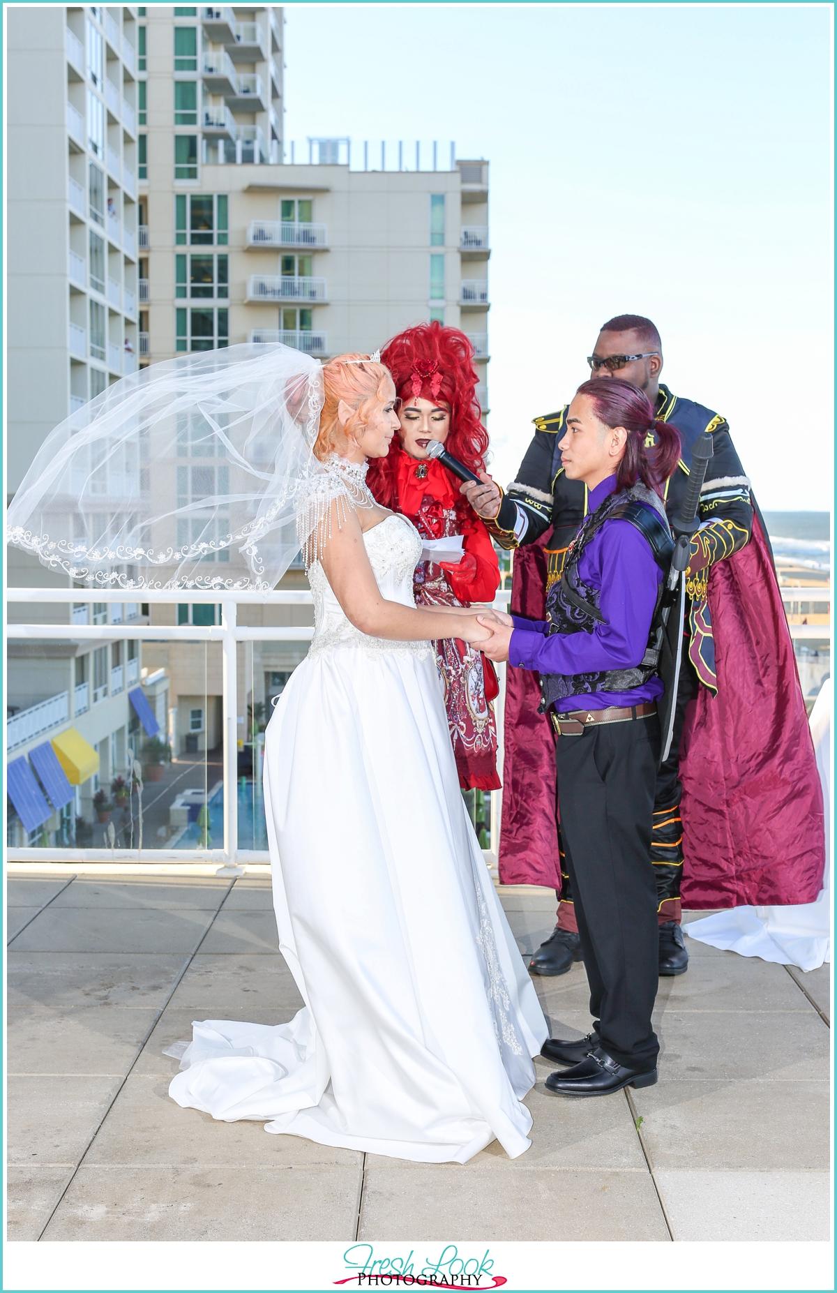 unique cosplay wedding