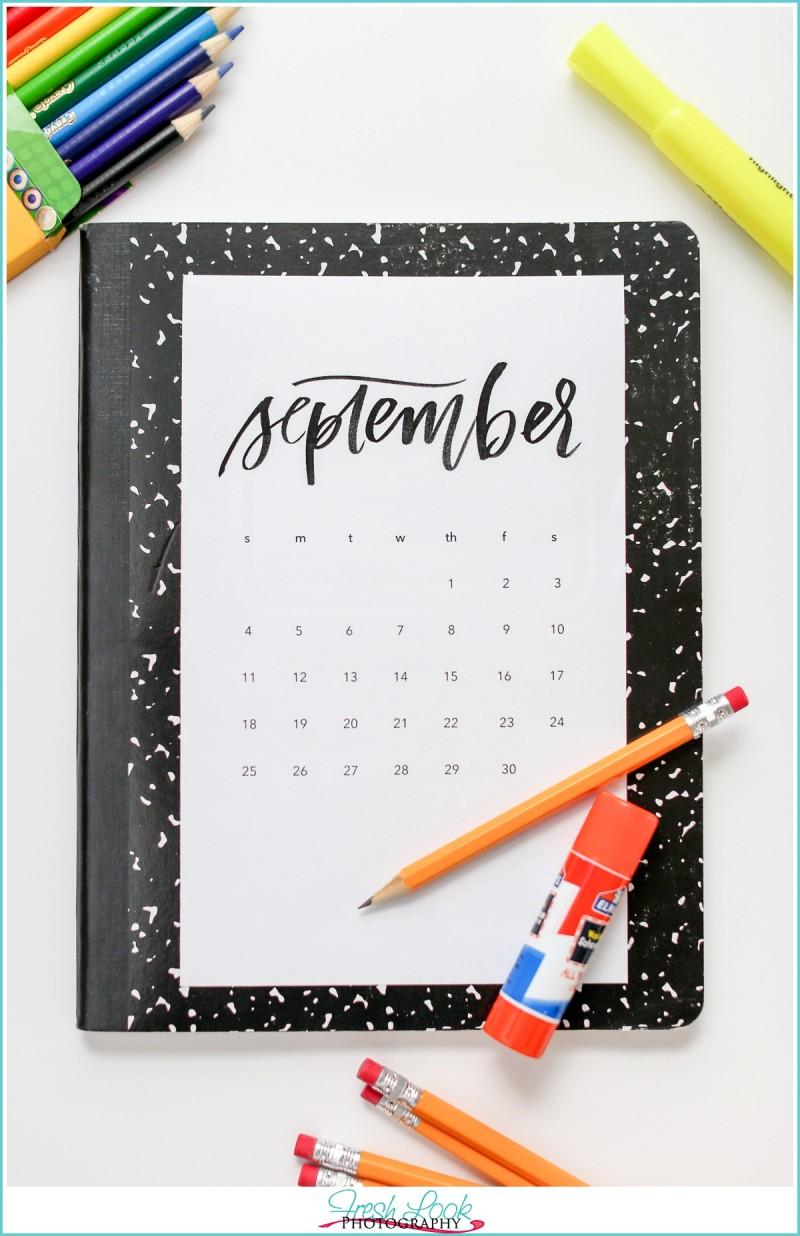 September 2017 monthly goals