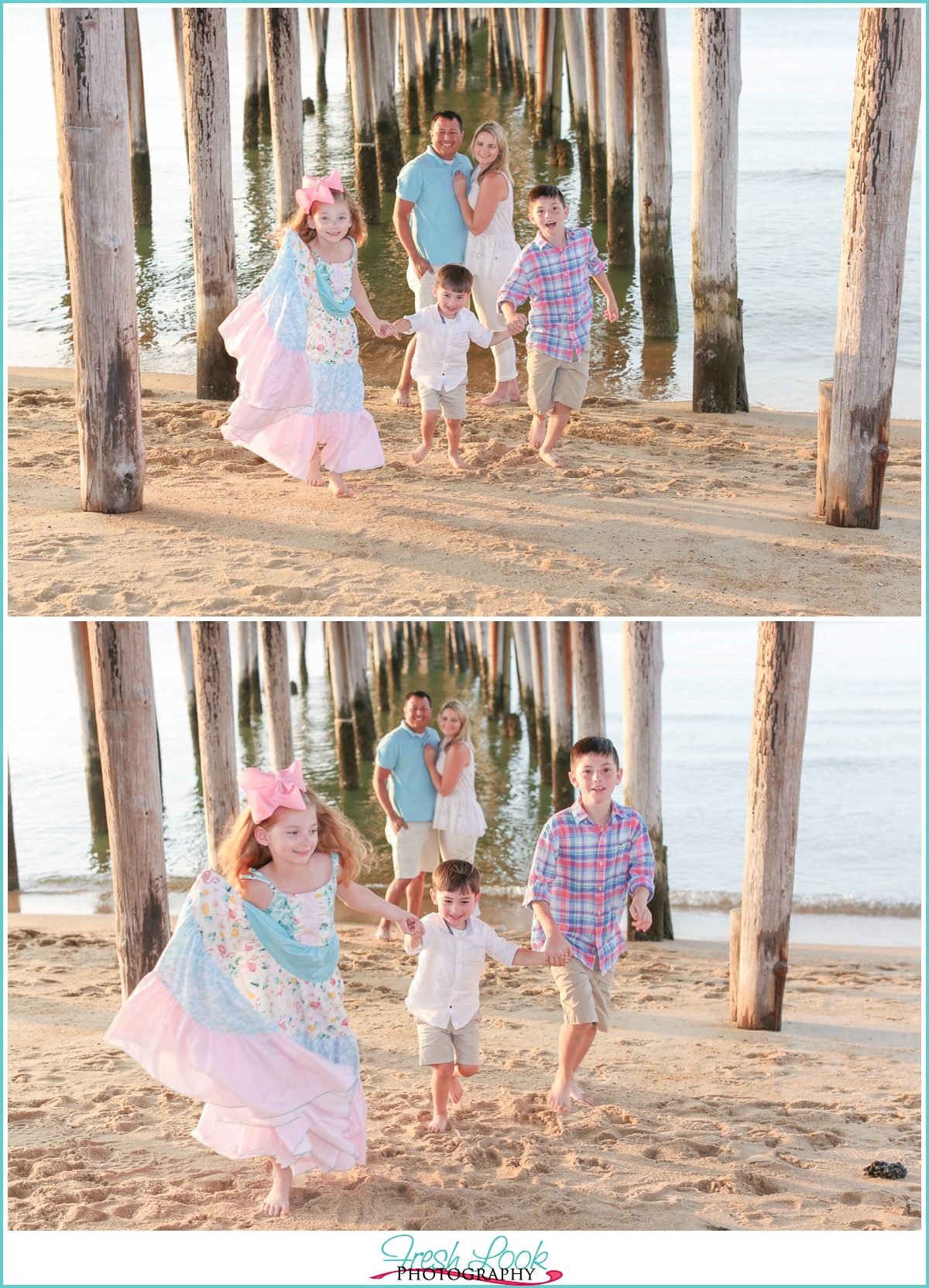 playful family photo shoot