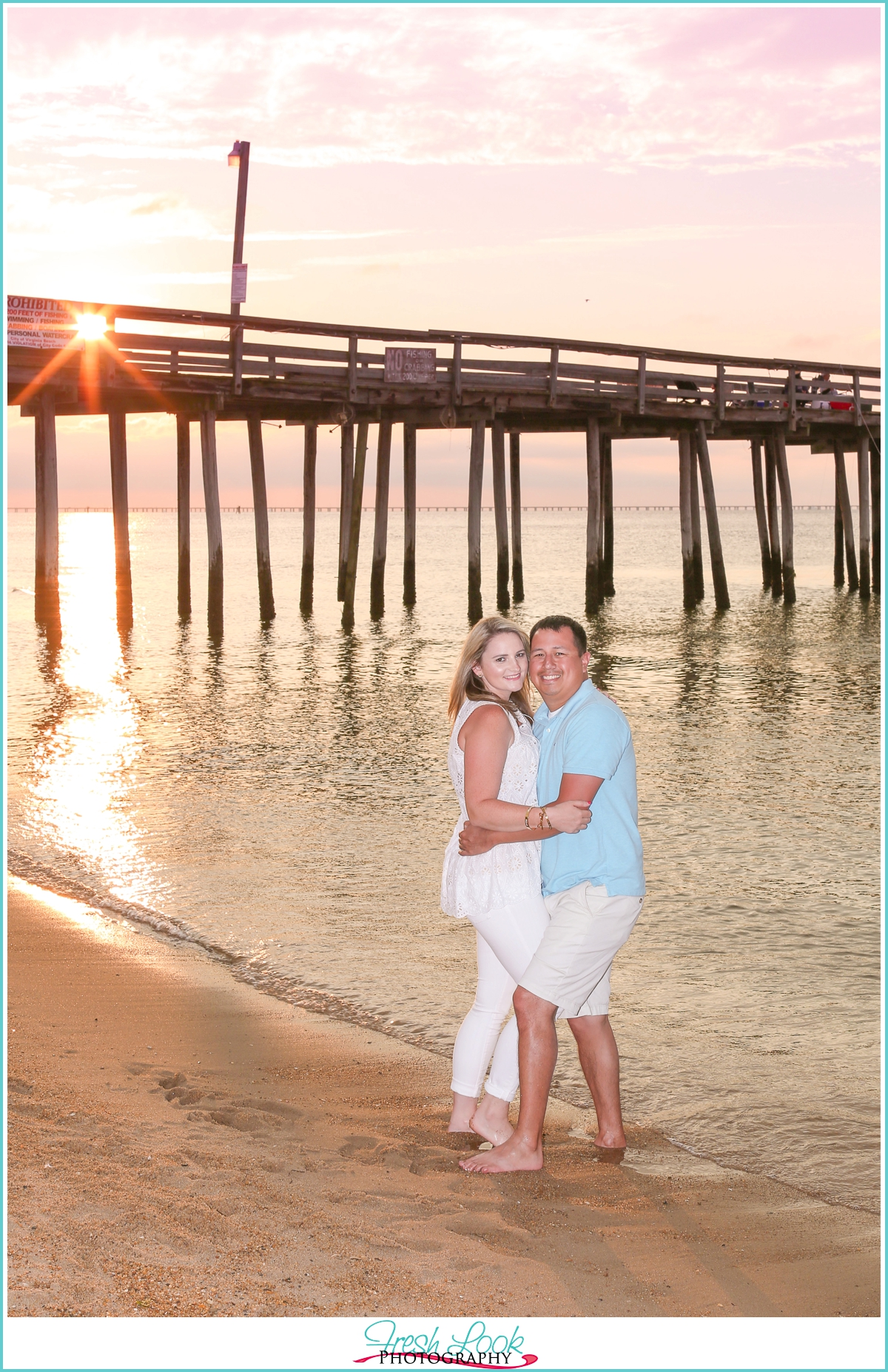 Virginia Beach sunset engagement shoot