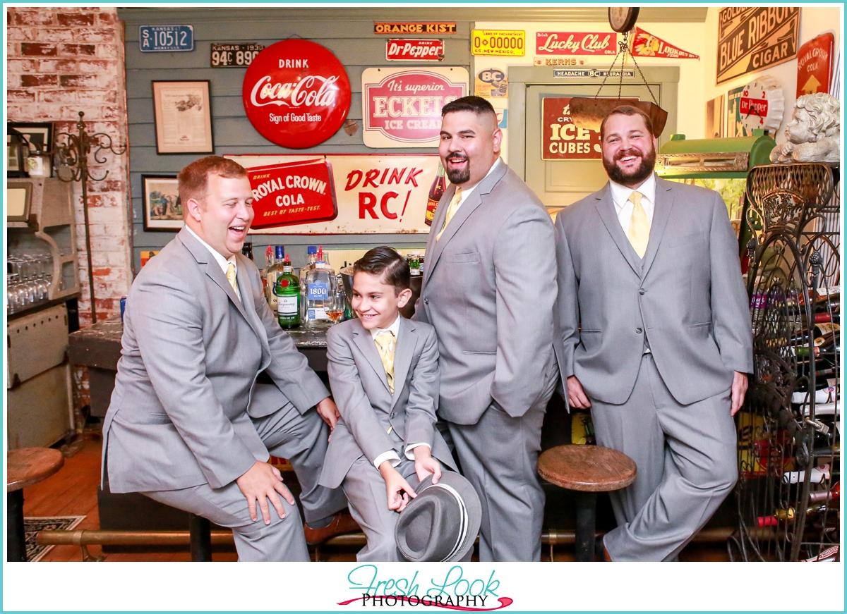 classy groomsmen posing ideas