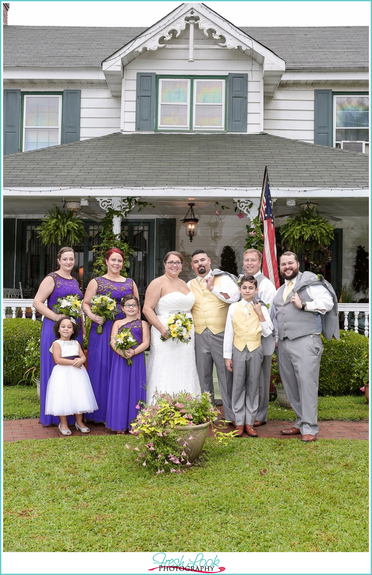 Historic Jasmine Plantation wedding party