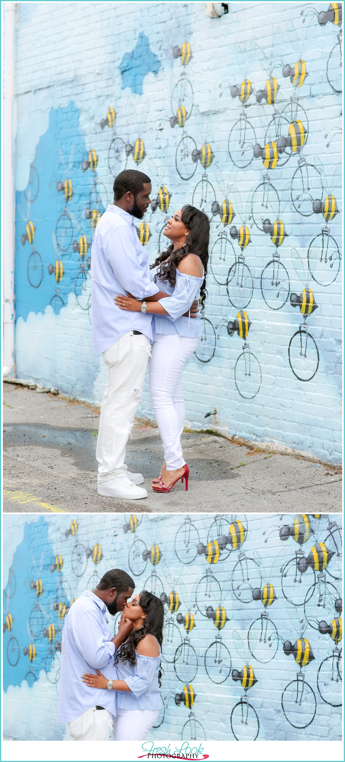 Buzzing with love engagement session