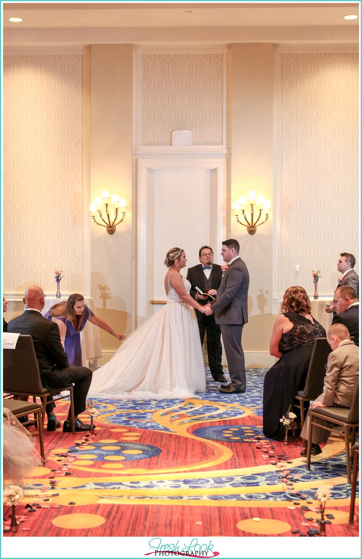 Portsmouth Renaissance hotel wedding ceremony