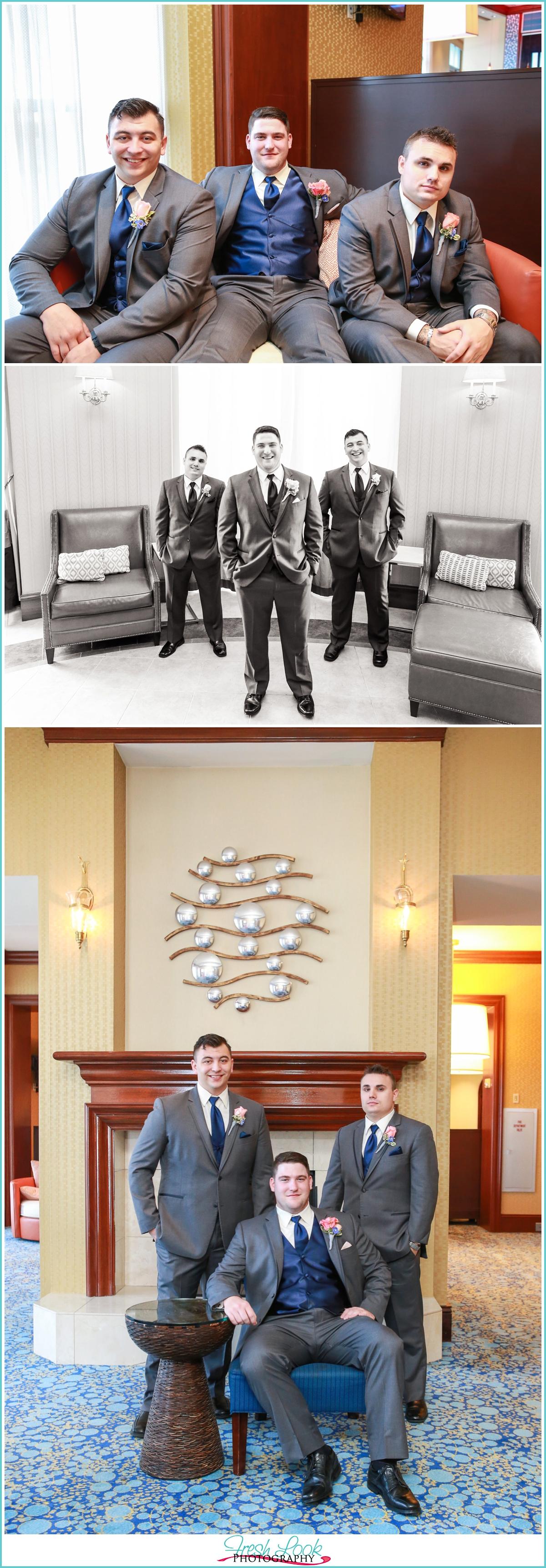 handsome groomsmen posing ideas