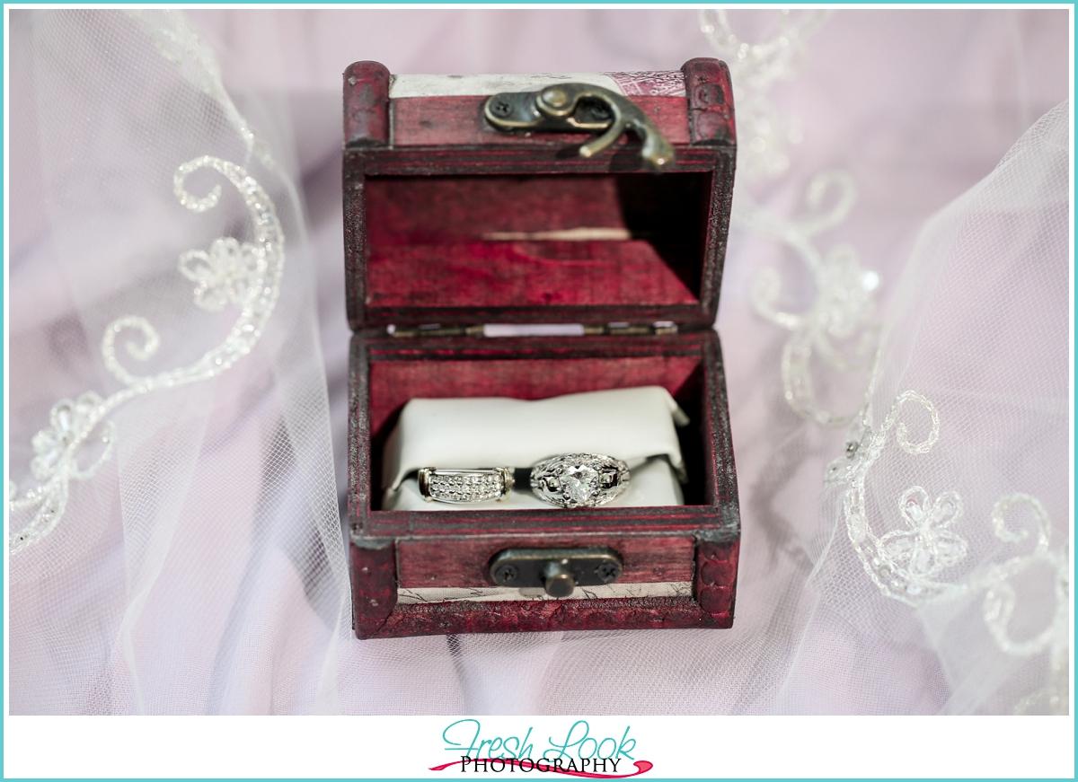 unique bride and groom wedding rings