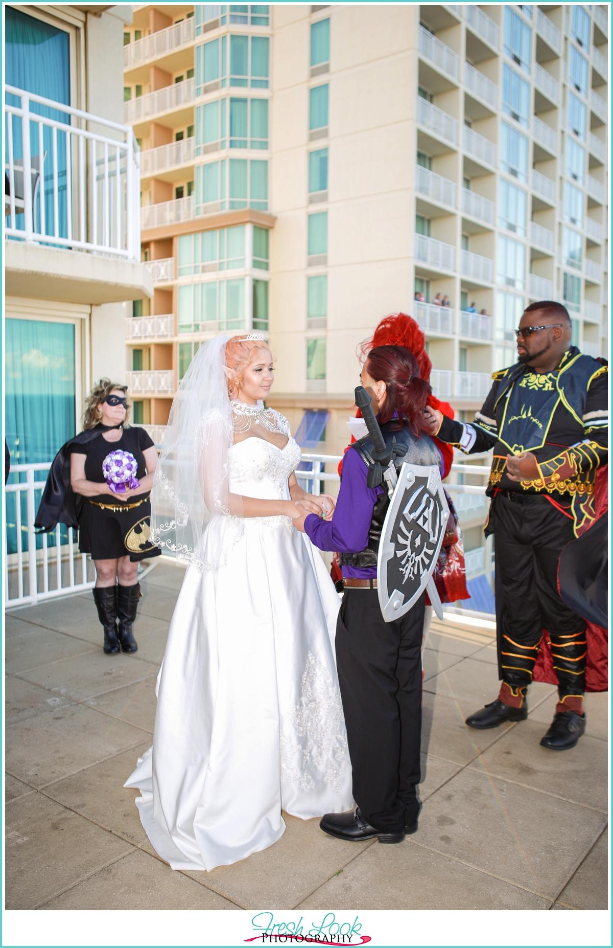 cosplay nerdy wedding