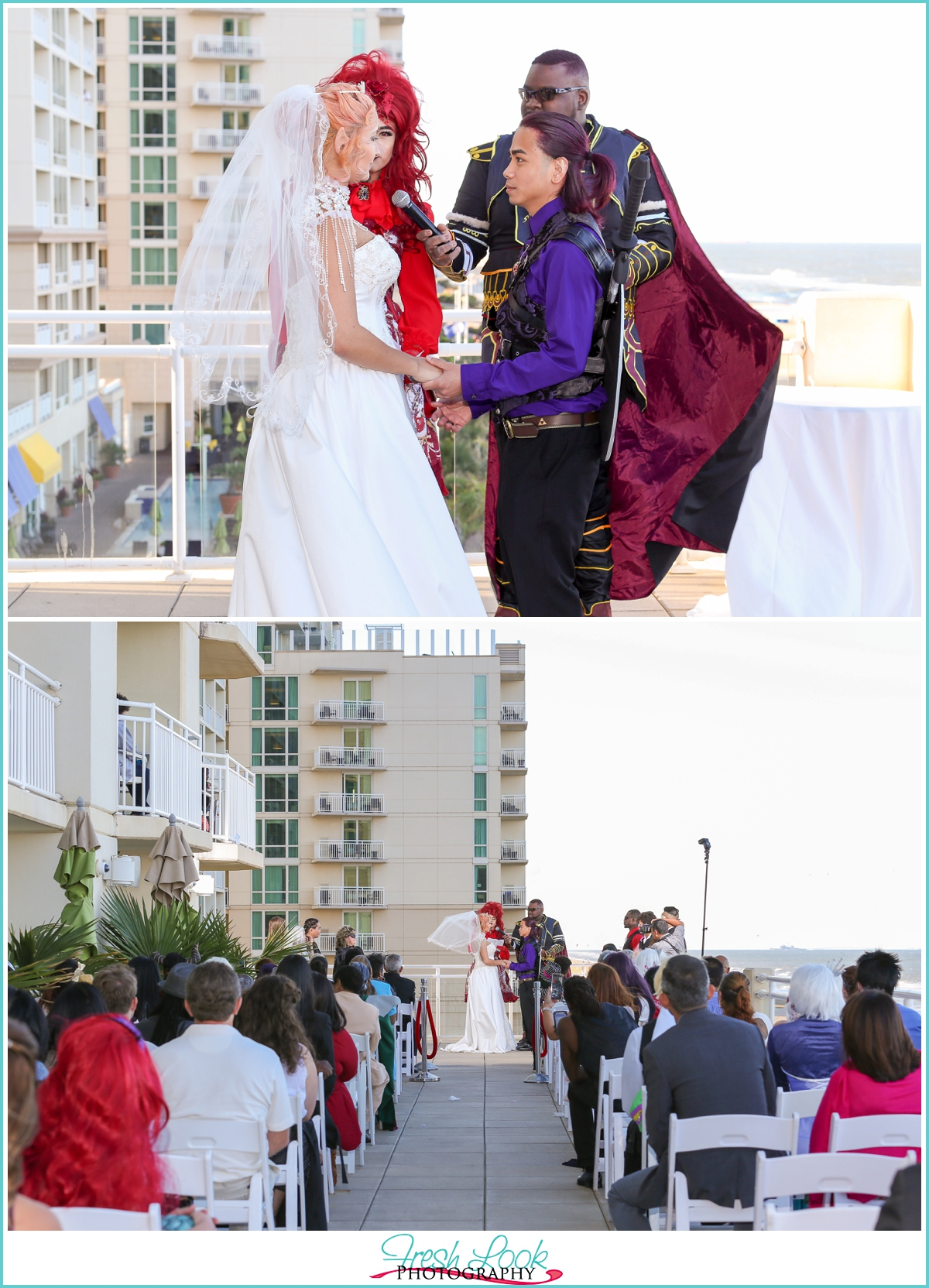 rooftop wedding at the oceanfront