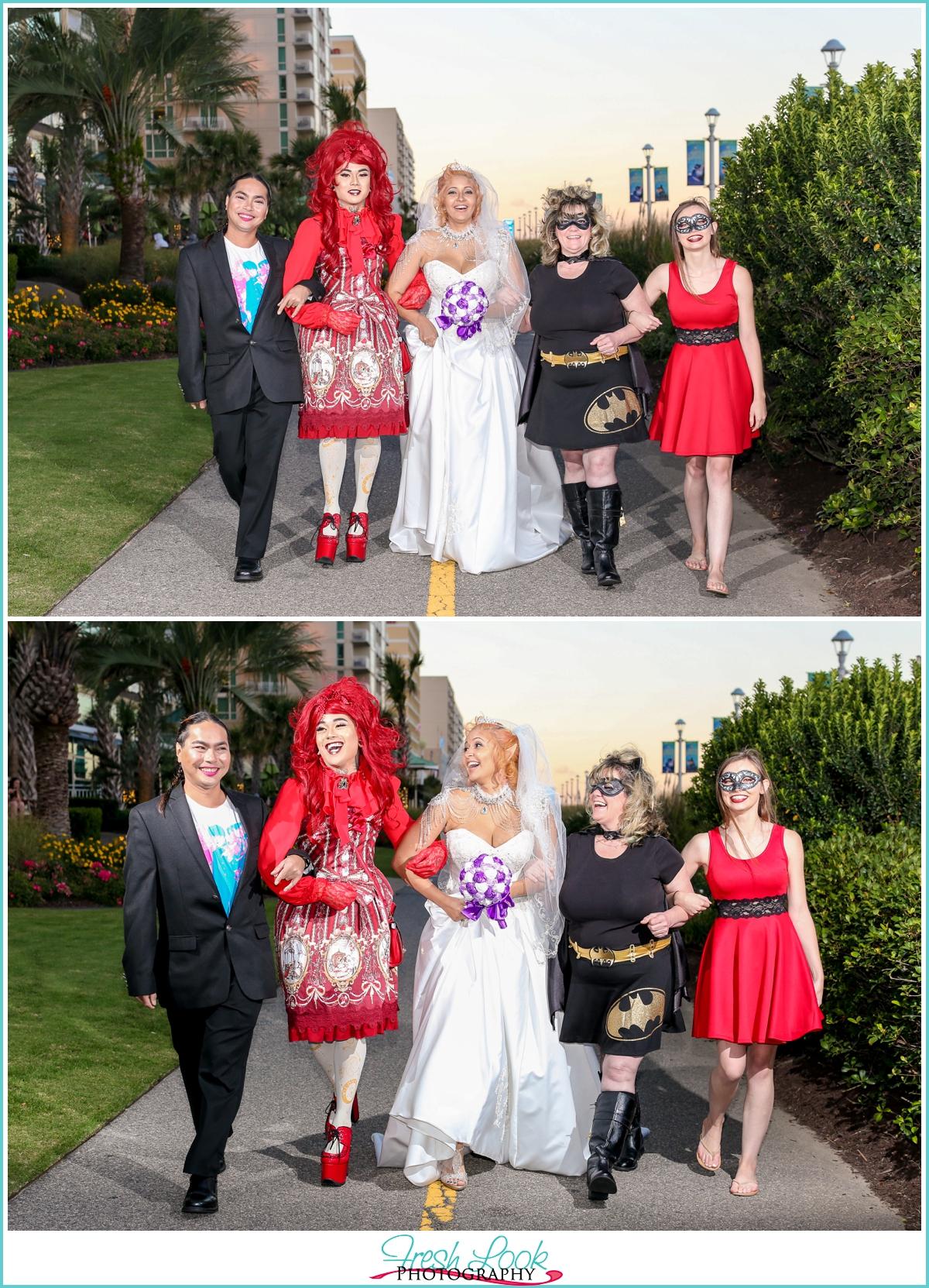 Virginia Beach cosplay wedding photographer