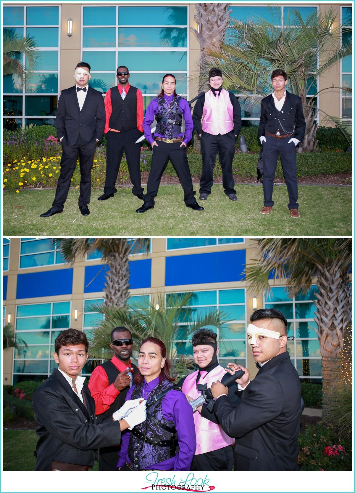 cosplay groom and groomsmen