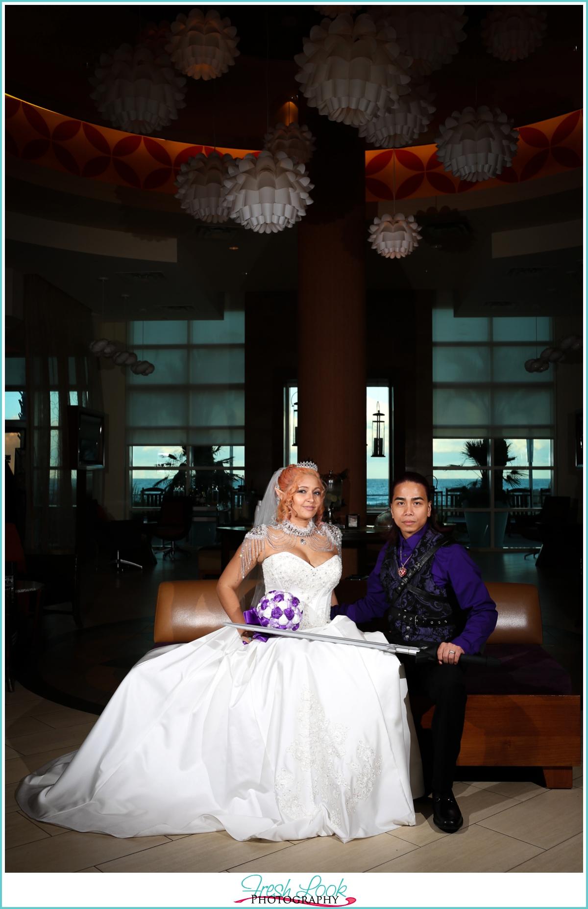 Link and Zelda Cosplay wedding photographer