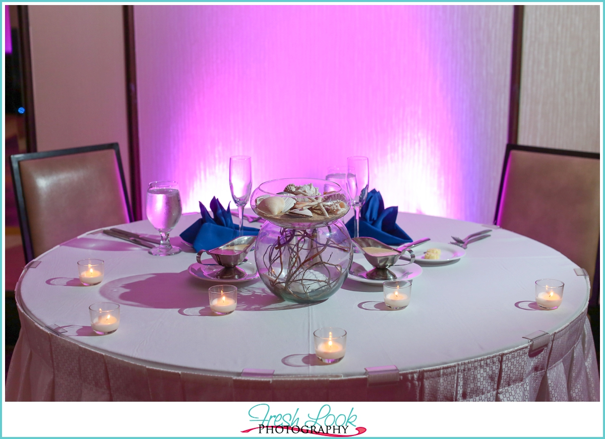 bride and groom sweetheart table