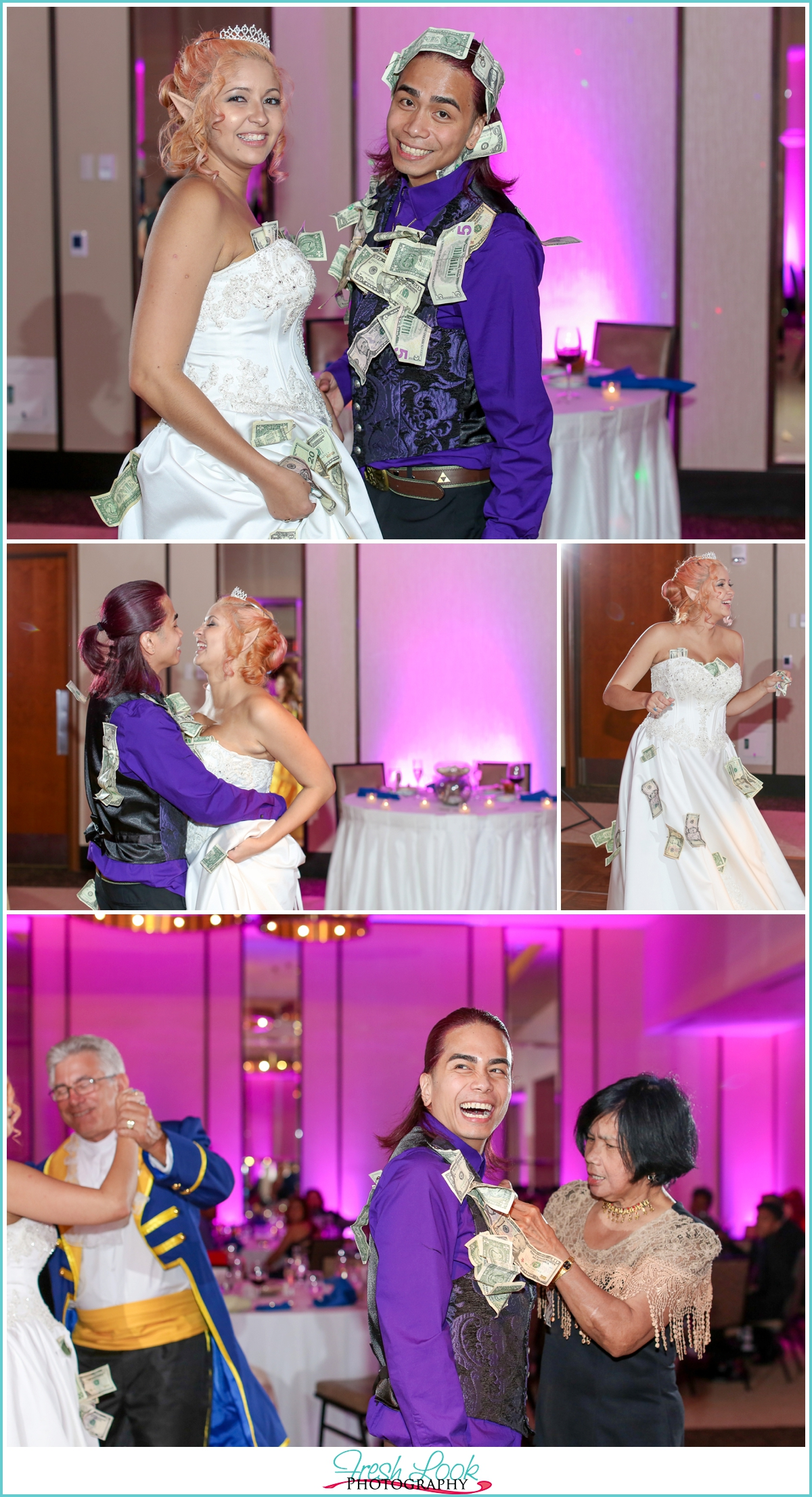 money dance for bride and groom