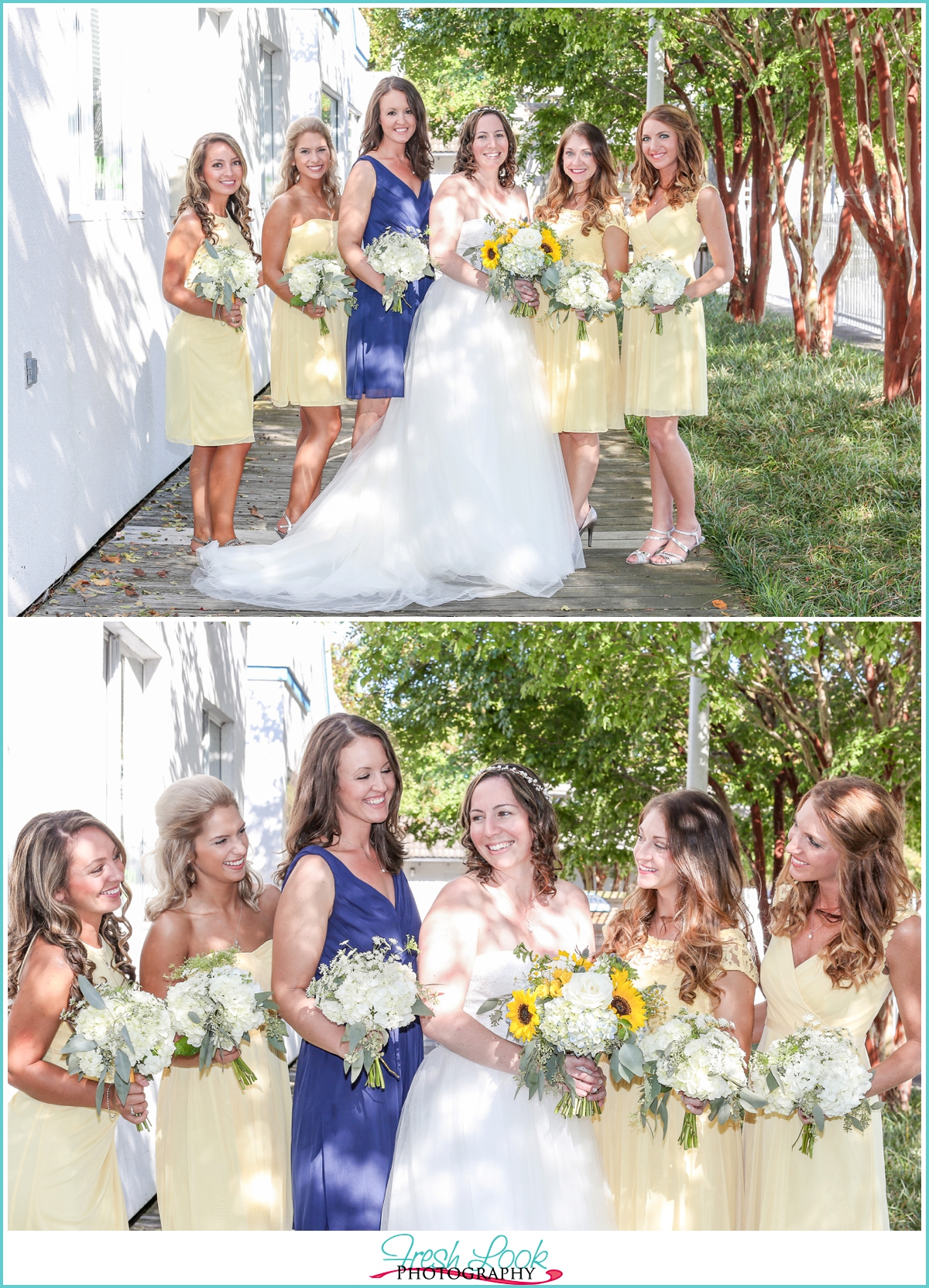 Virginia bride and her bridesmaids
