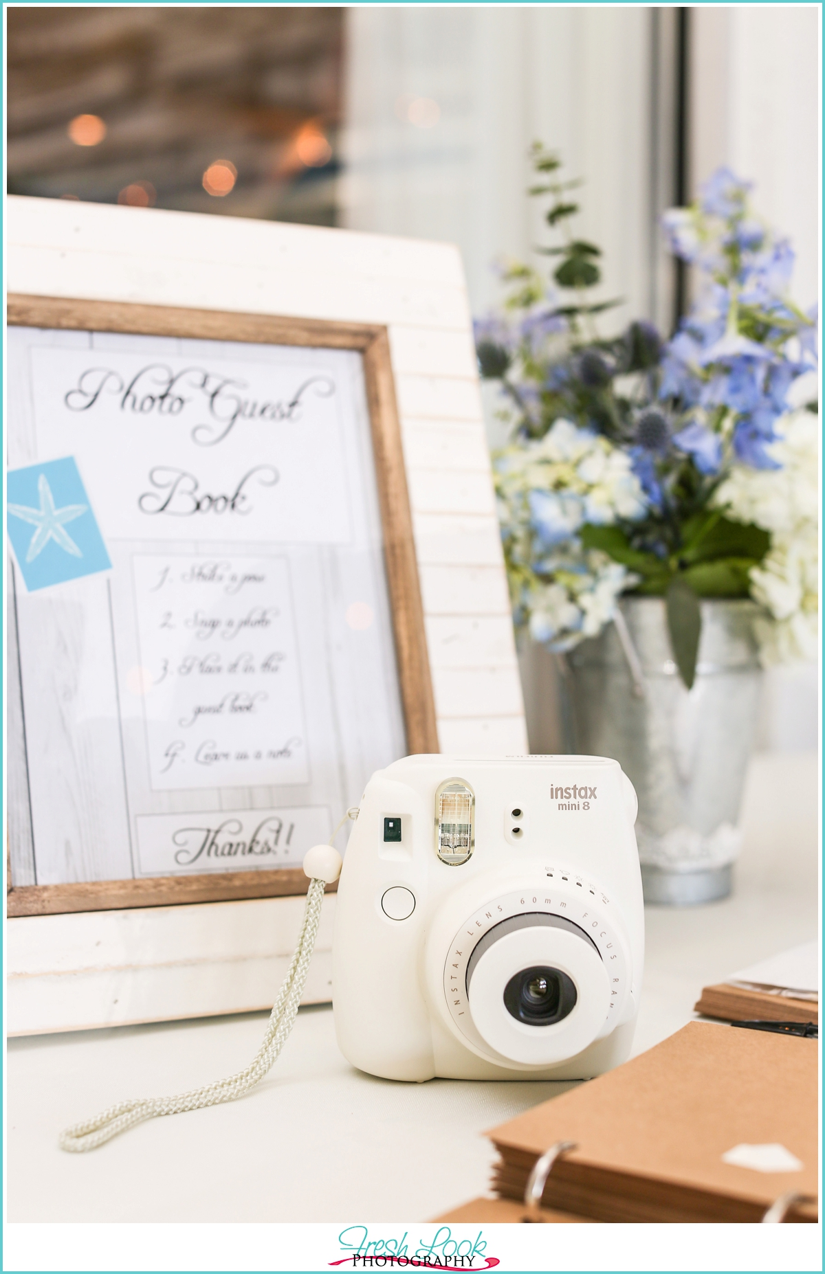 camera and photo guest book