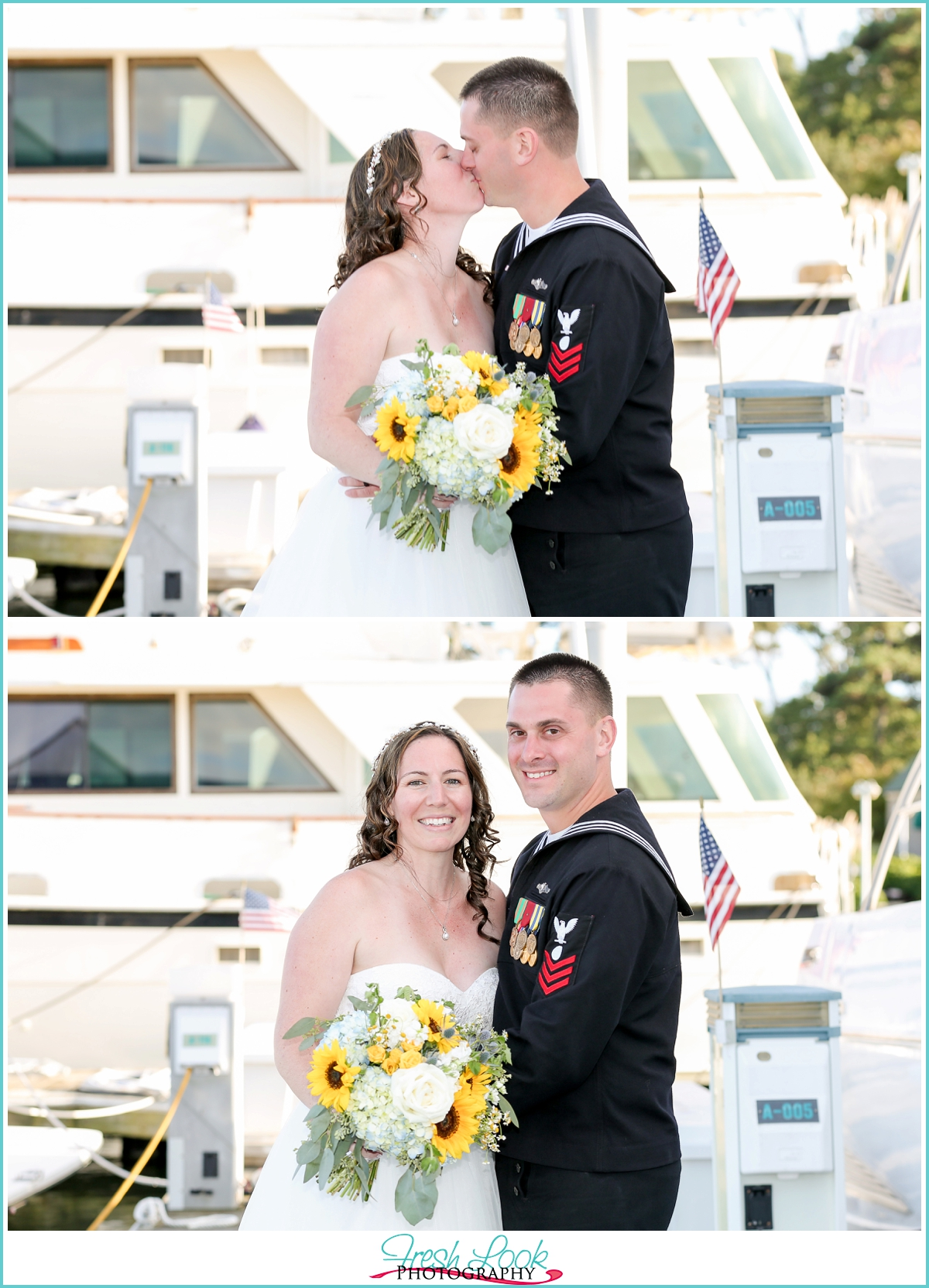 Yacht Club wedding photographer