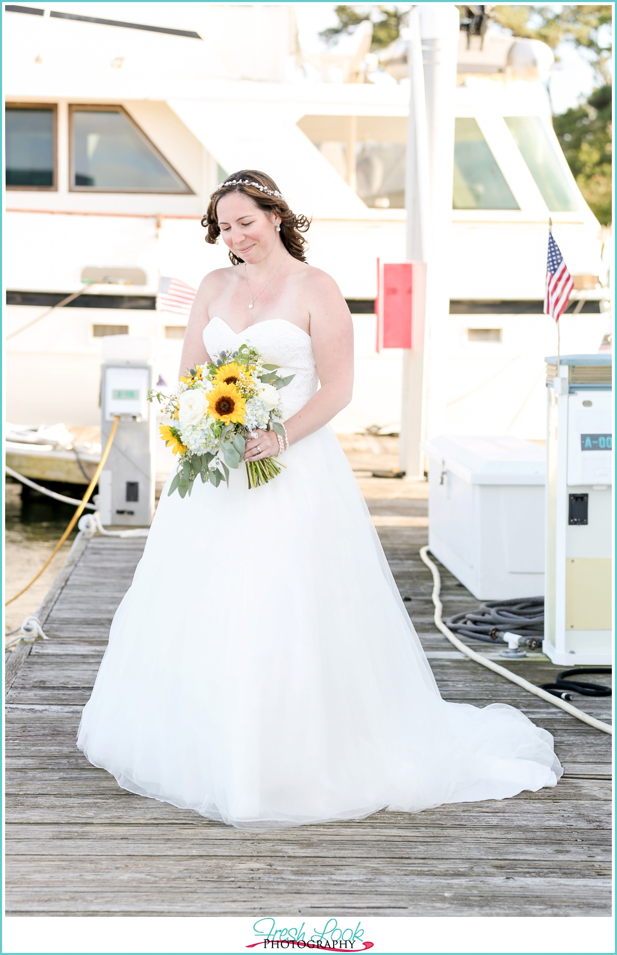 romantic bridal portraits on the dock