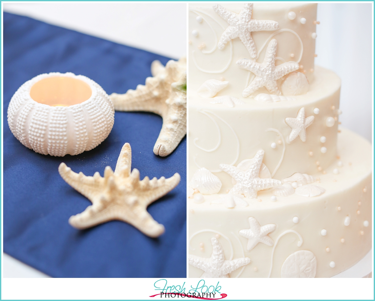 beachy wedding decor details