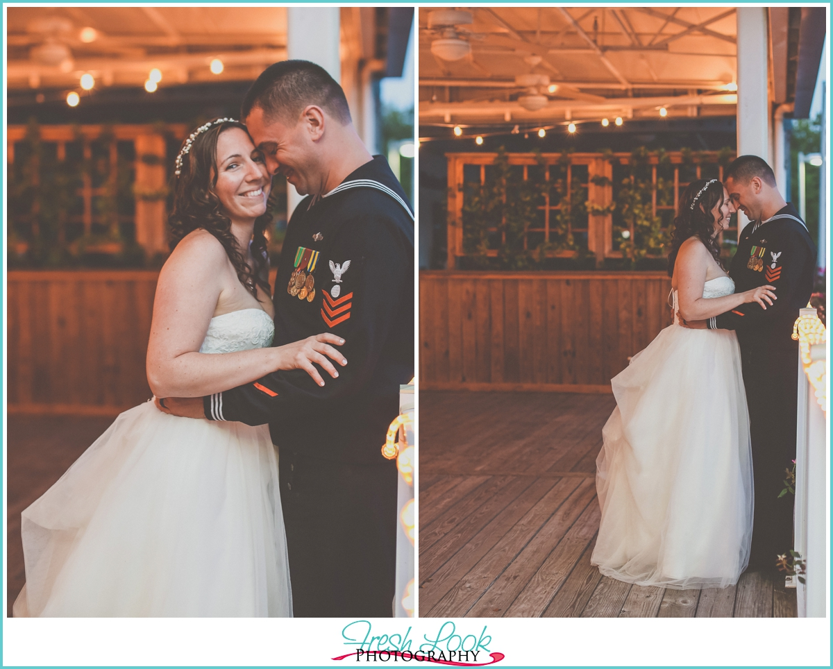 romantic bride and groom portraits