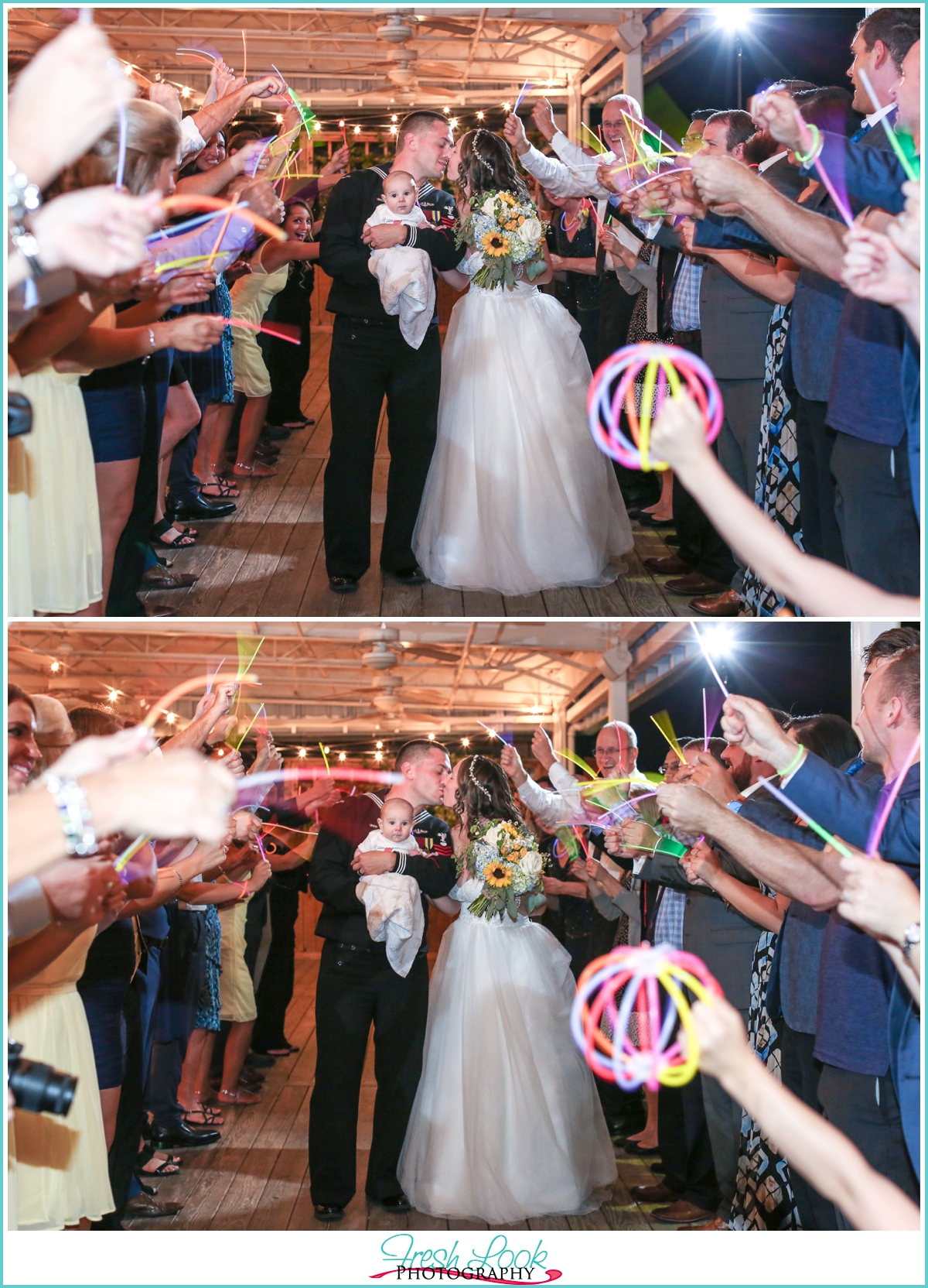 glow stick grand exit wedding