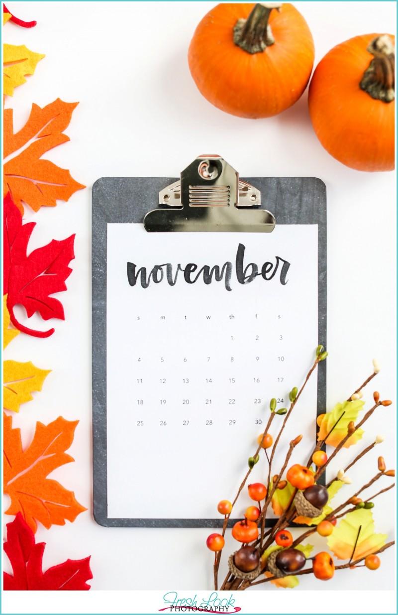 November 2017 Goals