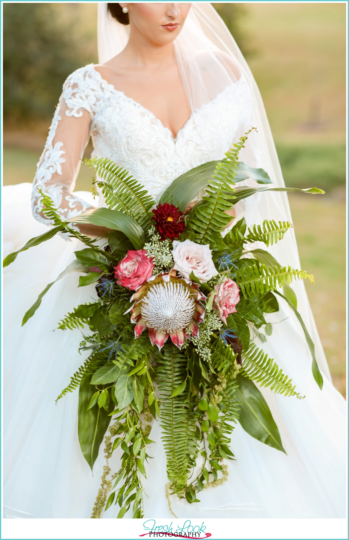 Hawaiian inspired bridal bouquet