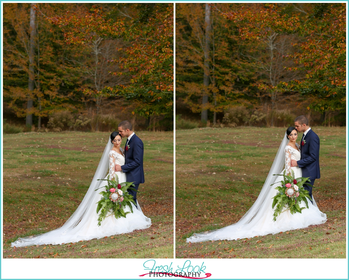 romantic farm wedding Franklin VA