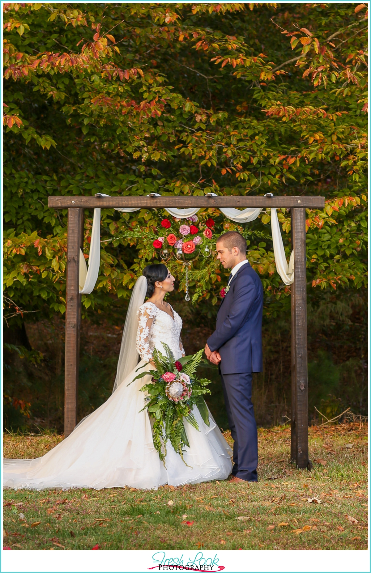 River Road Farm wedding ceremony