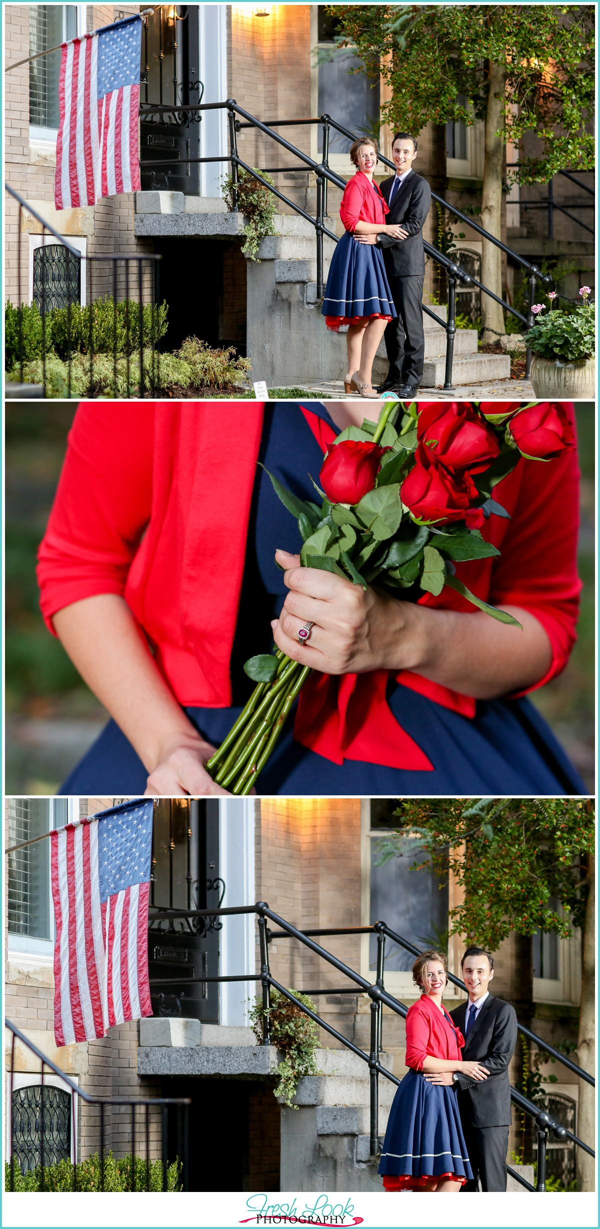 americana themed engagement session