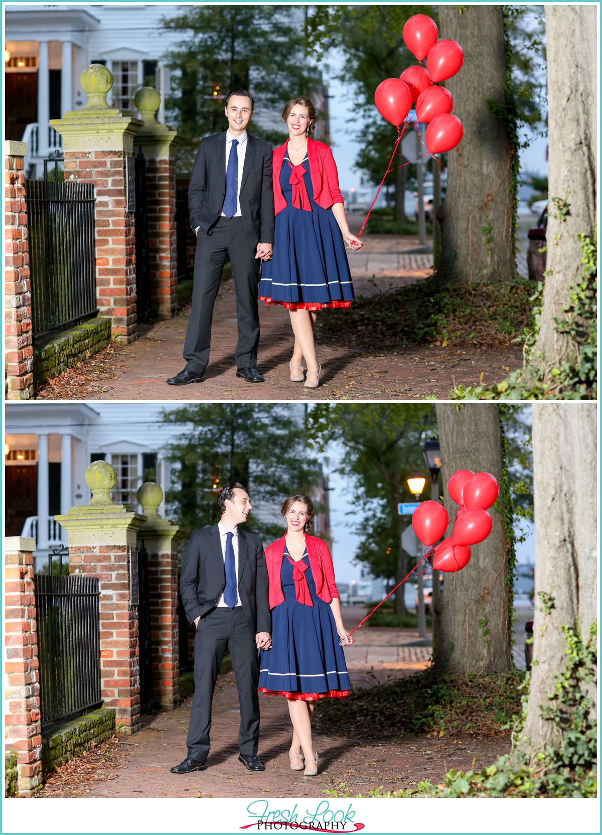 patriotic red white and blue engagement session