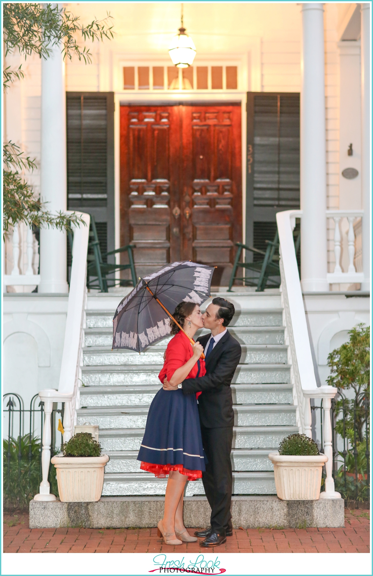 Mary Poppins themed engagement session